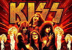 Kiss Pokie Logo