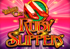The Wizard Of Oz Ruby Slippers Pokie Logo