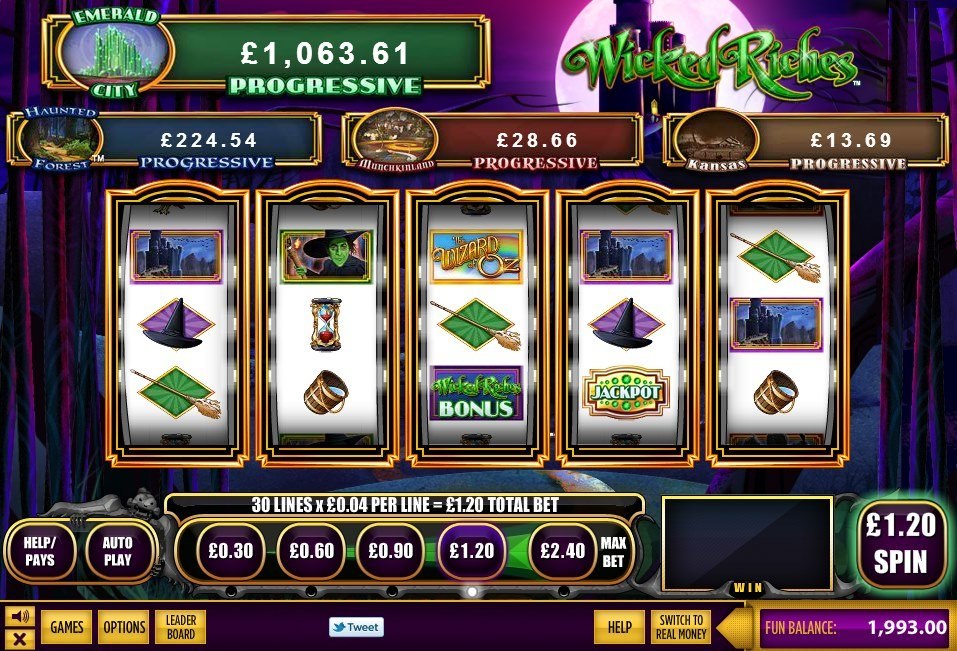 The Wizard Of Oz Wicked Riches Pokie